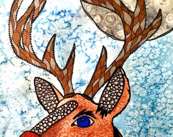 Rudolph 8x10 or 11x14 or 16x20 Limited Edition or Fine Art Print