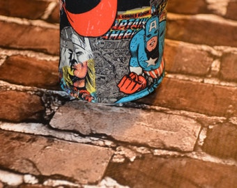Avengers Can/Bottle Cozy/Home Decor/ Housewarming Gift/ Kitchen Decor/ Hostess Gift/ Wedding Gift/ Gift for her/ Fun gift/ Boyfriend gift