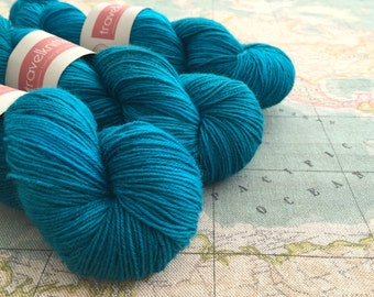 BFL Supersock British Bluefaced Leicester / Nylon sock yarn - Turning Tide
