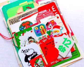 Christmas Ephemera Pack / 45 Pieces / Daily Planner / December / Junk Journal / Gift Tags