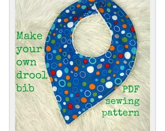 Bandana bib pattern, Drool bib pattern, Baby bandana bib, Bib sewing pattern, Toddler pattern, Baby pattern -  (S125)