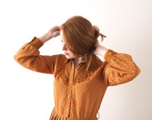 Jolly Koan, Copper Queen, vintage dress, small - medium