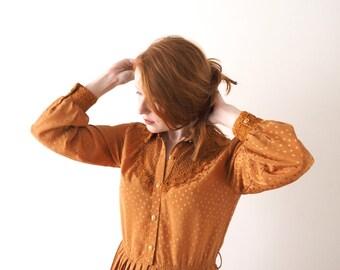 Copper Queen, vintage dress, small - medium