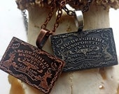Ouija Board Necklace in Silver - gothic occult witch jewelry