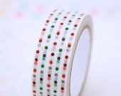 Dots Washi Tape - Scrapbooking - Gift Wrapping - Packaging Supplies - 1 Roll - 10 mt - Ready to Ship