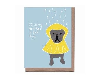 Dog Raincoat Card