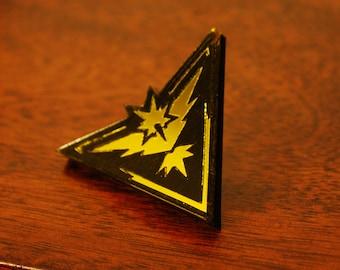 Handmade Acrylic Team Instinct Pokemon Go Badge Pin