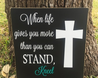 When Life Gives You Custom Wood Sign ~Inspirational Sign ~Bible Verse Sign ~Faith Sign ~Prayer ~Christian Gift ~Best Friend Sign ~Healing