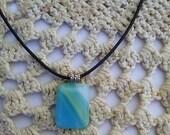 Glass Pendant, Jewelry, Fused Glass , Handmade, Free Shipping