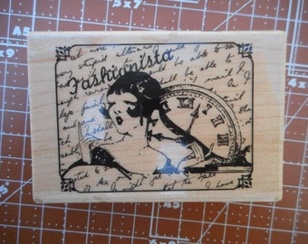 Fashionista Rubber Stamp by Hampton Art PS0336