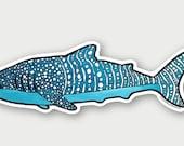 Whale Shark - Die Cut Vinyl Sticker weather resistant UV protected