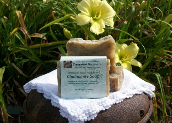 Chamomile Handmade Hand-milled All Natural Soap, vegan friendly, handmade with therapeutic grade essential oil