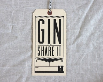 Give Someone Booze Tags...Gin and Share It