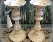 Candle holders Candlesticks Off White Ornate Wedding Home Decor Flame Snuffer