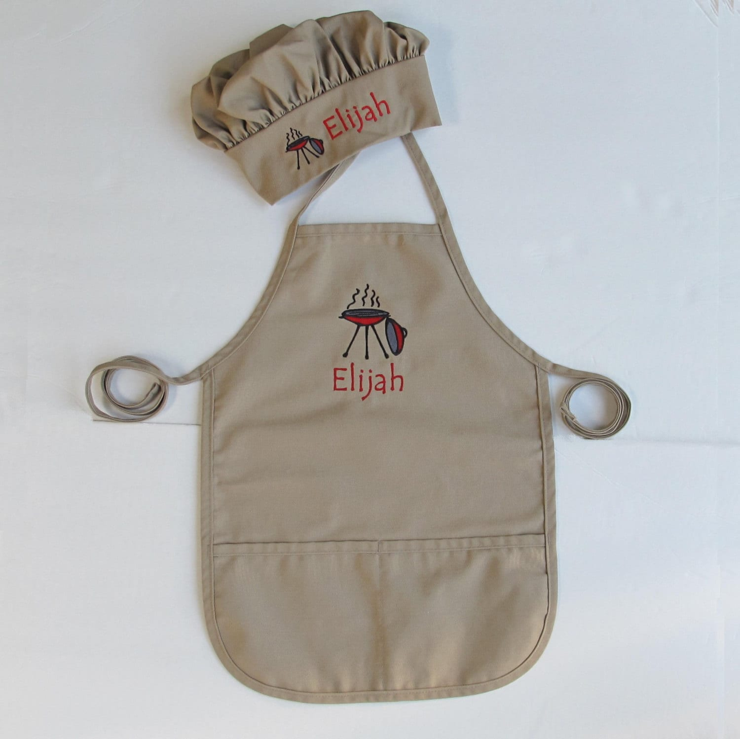 kids personalized apron and chef hat for grilling by atwinklestar. Black Bedroom Furniture Sets. Home Design Ideas