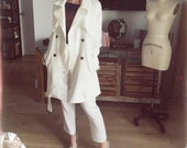 White Trench Coat Jackie Kennedy Style
