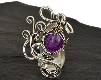 Victorian Pendant, Amethyst Pendant, Victorian Necklace, Amethyst Silver Pendant, Necklace Pendant, Amethyst Jewelry, Purple Pendant