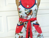 Womens Apron Reversible Country CowGirl Full Apron