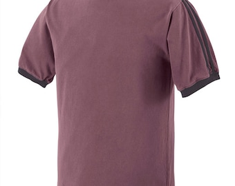 Authentic Pigment - Pigment-dyed sport stripe t-shirt blank - Medium