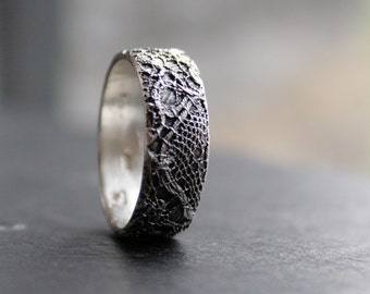 Lacey no 29 - sterling silver lace ring - READY to SHIP in size 8 1/2 or made to order in your size