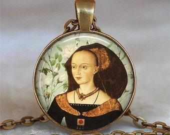 Elizabeth Woodville necklace, Elizabeth Woodville pendant, White Queen necklace, Tudor necklace, Tudor jewelry, key chain