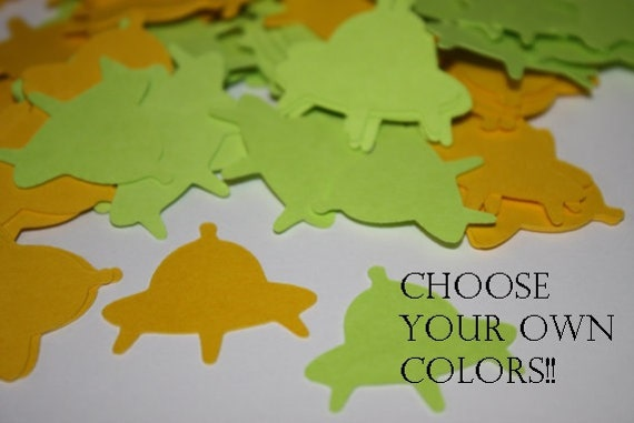 Choose Your Own Colors Spaceship Die Cut Confetti Table Decor