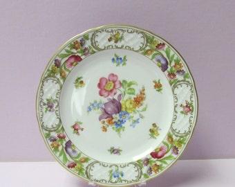 Schumann Empress Dresdner Flowers Salad or Dessert Plate