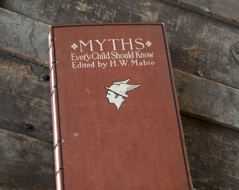 1907 MYTHS Antique Lined Notebook