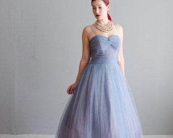 Vintage 1950s Party Dress - Tulle 50s Dress - Wanderlust Tulle Dress