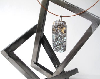 Shoreline Pebbles Glass Pendant