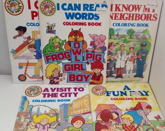 Vintage Coloring Books Lot of 5 Creative Child Press 1980s Color Playmore