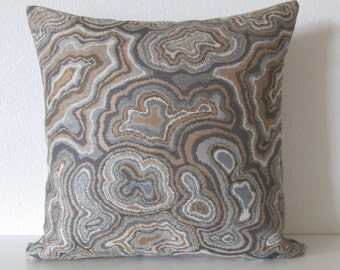 Marni Agate Amber decorative pillow cover marbleized gray taupe