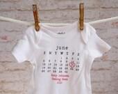 Pregnancy Announcement Onesie, Pregnancy shirt, pregnancy bodysuit, personalized baby onesie, baby onesie, birth announcement, typewriter
