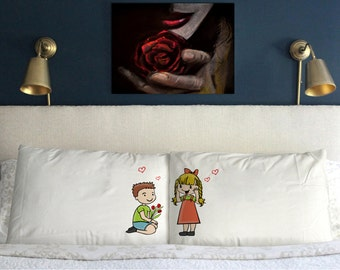 Love couple Pillow Cases   Funny  Valentine's day Wedding Perfect Couple