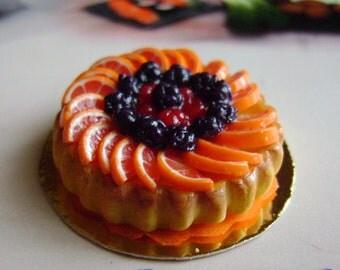 Dollshouse Food 1:12 cake fruit crostata di frutta sweet Puppenstube Küchen Miniatur, maison de poupées cake sweet