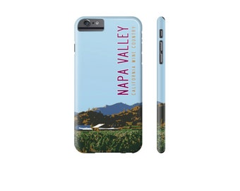 NAPA VALLEY iPhone Case, iPhone 7 Cover, iPhone 6 Cover, Samsung Galaxy s7 Cover, Travel Poster, Wine Lover Gift, Designer iPhone Cases.