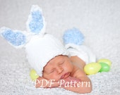 KNIFTY KNITTER Loom Pattern- Baby Bunny Hat Diaper Cover Pattern- The Bailey Bunny Hat Diaper Cover Set- Size 0 to 12 Months