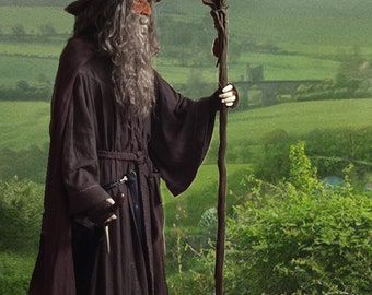 Gandalf the Grey Wizard, LOTR, The Hobbit, Reenactment LARP Cosplay Costume Replica Made to Order
