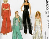 McCalls 4522 Pants with ovreskirt, Evening, Boho,  Size 16 to 22  UNCUT