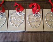 Christmas Ornament Teacher Gift - Custom Name Teacher Ornament