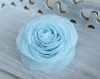 Baby blue flower blossom rose, hair clip, hair piece