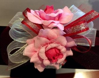 Silk Flower Wrist Corsages, Father/Daughter Dance,Recitals, Graduation