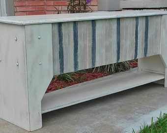 Rustic Bench With Shelf, Hope Chest, Trunk, Bedroom Furniture, Storage