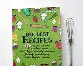 35 Recipe Cards (blank) + Bonus Art Print, Recipe, and Tiny Whisk!