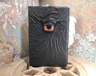 Mythical Beast Book (Dark Green leather with Orange/Yellow eye)
