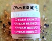 Team Bride, Favors,  Wedding, Bracelets, Bachelorette Party, Hot Pink, ON SALE