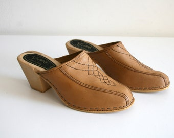 Italian Leather Clogs 7