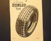 1930s French Ad for Hanging, Vintage Dunlop Tire Ad 1937, 1930s Paper Ephemera, L'Illustration