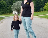 Boxwood & Redwood Jogger Pattern BUNDLE, Mommy and Me patterns, 12m-8, XS-2XL knit pants pattern