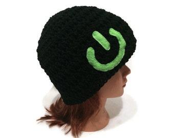 Power Button Hat, IEC 5008 Hat, Geeky Hat, Gamer Hat, Nerdy Hat, Green Power Button, On Off Switch Hat, Techie, Computer Nerd, Geekery